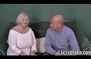 LACEYSTARR - Busty GILF negotiates a..