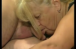 Two granny realize drilled in foursome..