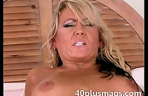 Divorced golden-haired milf goes anal