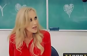 Mature teacher brandi love receives with a..