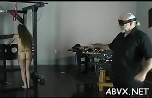 Mature chick extreme bondage in..