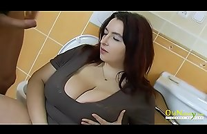 OldNannY Busty Mature czech Hardcore Going to bed