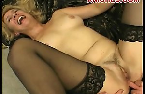 Hot mature in three-some
