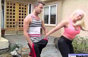 Hardcore sex tape with doyen bigtits..