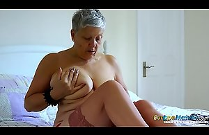 EuropeMaturE Tremendous Breasts Solo..