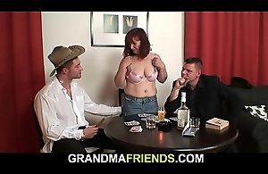 Redhead old mature double-fucked after..