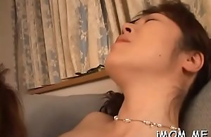 Mature bitch gets big soul and hairy ribald..