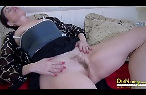 OldNannY Lonely Mom Solo Pussy..