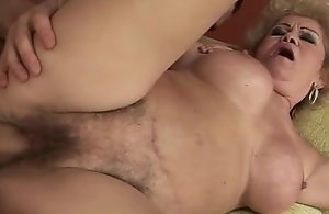 Clumsy old grandmother receives fucked