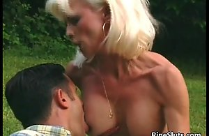 Gorgeous adult blonde receives eroded