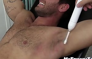 Gay mature pervert has tickle festival with..