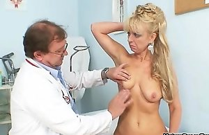 Blonde mature mother receives fulyl examed